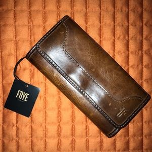 Frye Melissa Cognac Leather Wallet